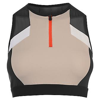 Reebok Womens Colour Block Cropped Sports Bra Ladies