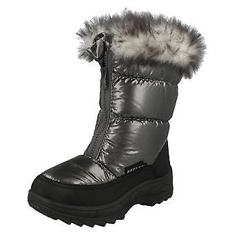 Ragazze Spot sulla pelliccia foderata stivali da neve