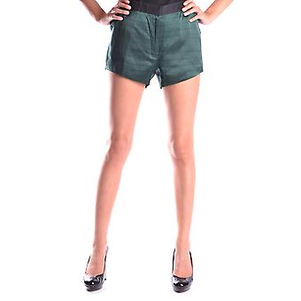 Ganso dourado Ezbc011010 Mulheres's Shorts de Seda Verde