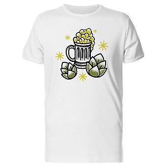 Bierkrug und grünen Hopfen Tee Men's - Bild von Shutterstock