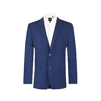 Dobell Herre mørke blå Suit jakke skræddersyet pasform Notch revers