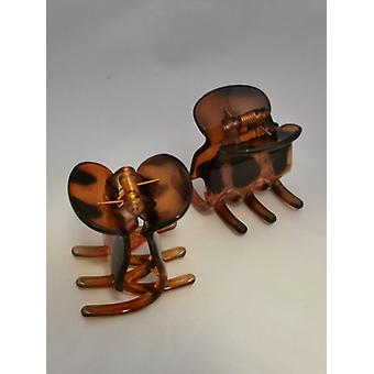 Hair Clamps Large (2-Pack) (Brown)