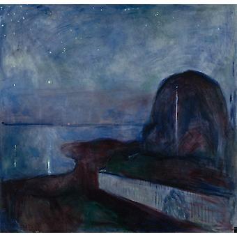 Bij nacht, Edvard Munch, 50x48cm