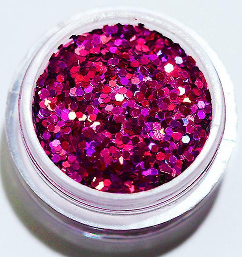 1x Hexagon glitter Cerise
