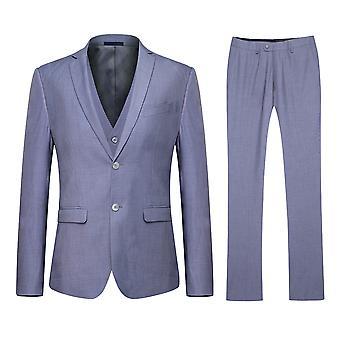 Cinza clássico magro Casual 3-Piece terno Allthemen masculino