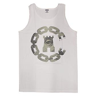 Crooks & Castles Currency Chain C Tank Top White