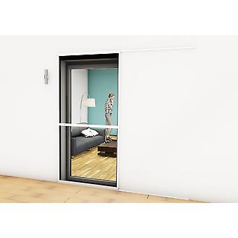 Sliding door fly screen door Kit insect protection 120 x 240 cm in Brown