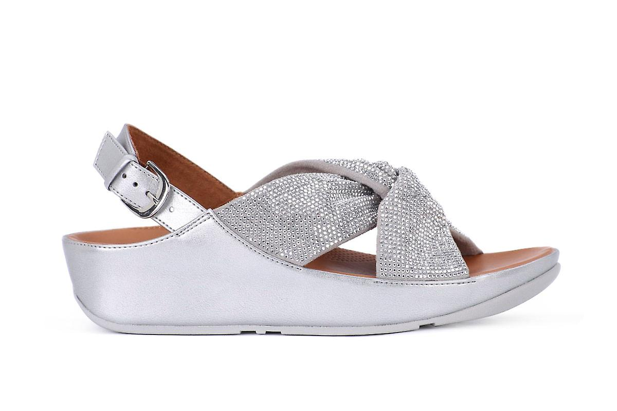 Fit flop twiss crystal silver infradito