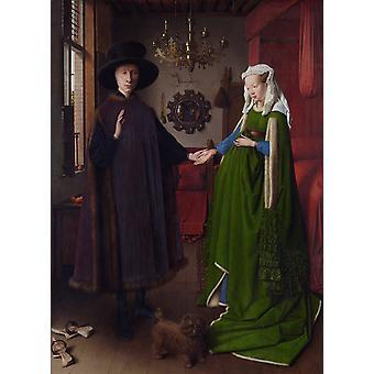 Le portrait d'Arnolfini, Jan Van Eyck, 50x37cm