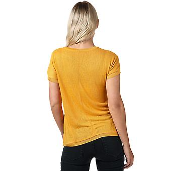 Womens Only Riley Jersey T-Shirt In Golden Yellow