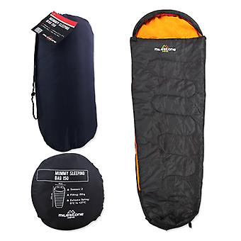 Milestone Single Mummy Festival Sleeping Bag 2 season + Carry Bag