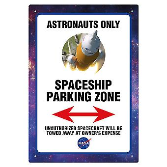 NASA Parking Tin Sign
