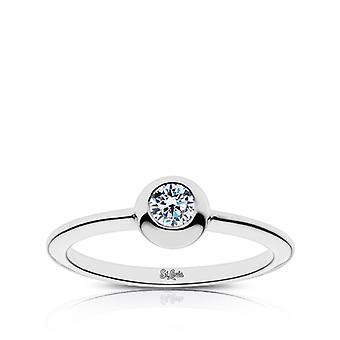 St Louis Cardinals Diamond Ring in Sterling Zilver ontwerp door BIXLER