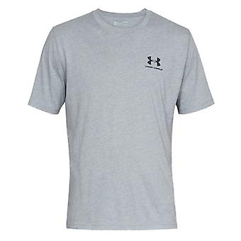 Under Armour Mens Sportstyle Left Chest Logo Cotton T-Shirt Tee Grey