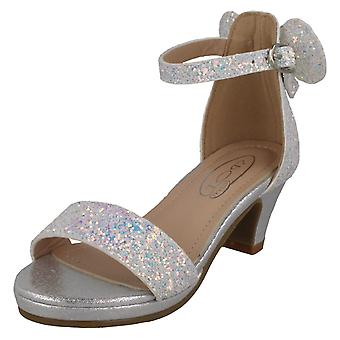 Girls Spot On Mid Heel Sandals H1109