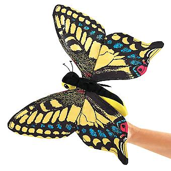 Hand Puppet - Folkmanis - Butterfly Swallowtail New Animals Soft Doll Plush 3029