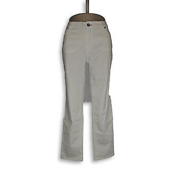 Peace Love World Women's Jeans Peached Sateen Slim Cut White A288575
