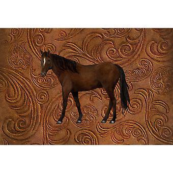 Carolines Treasures  SB3066PLMT Horse Fabric Placemat