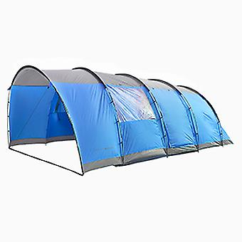 Charles Bentley 6 Man Waterproof Tent Camping Outdoor Festival 2 Chambres - Gris