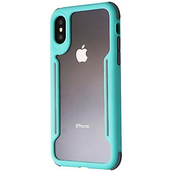 Verizon Shock absorbant Slim Guard Case pour Apple iPhone Xs/X - Green/Gray