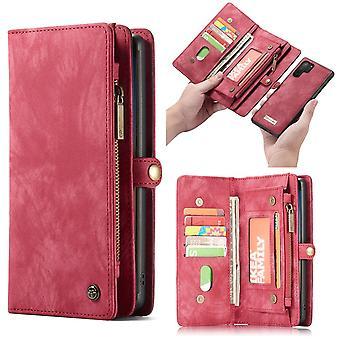 CASEME Samsung Galaxy Note 10 Plus Retro Wallet Case-Red