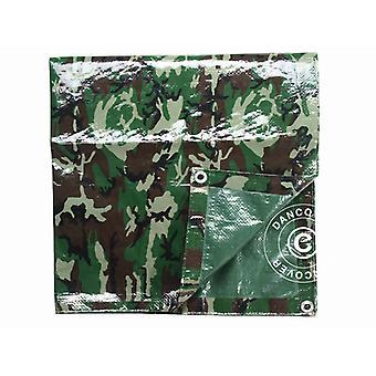 Kamouflagepresenning Woodland 5x6m, 120g/m²