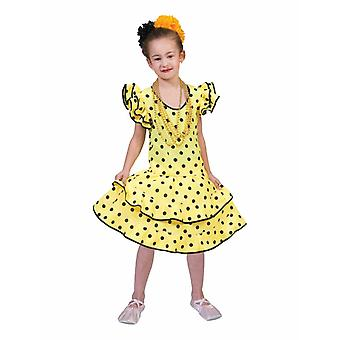 Flamenco Dress Samba Costume Girl Spaniard Brazilian Country Carnival Children's Costume