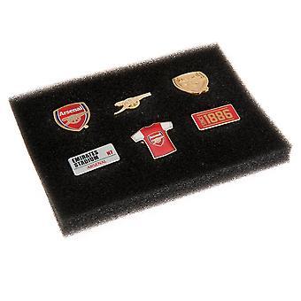 Arsenal FC 6 Piece Badge Set