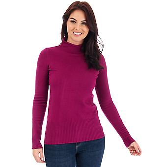 Womens French Connection Babysoft Roll Neck Jumper In Hollyhock