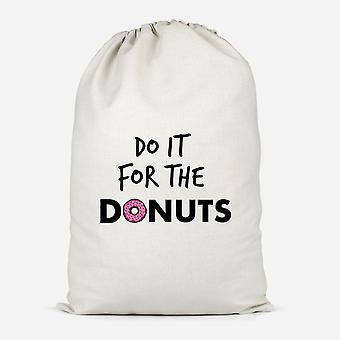 Do It For Donuts Cotton Storage Bag