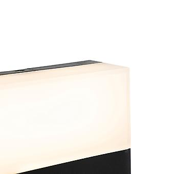 QAZQA Modern outdoor wall lamp black IP44 incl. LED - Dualy