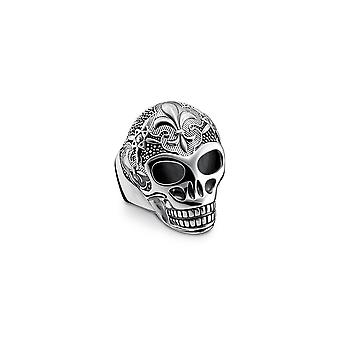 Thomas Sabo Sterling Silver Thomas Sabo Lily Skull Power Ring TR2155-637-21