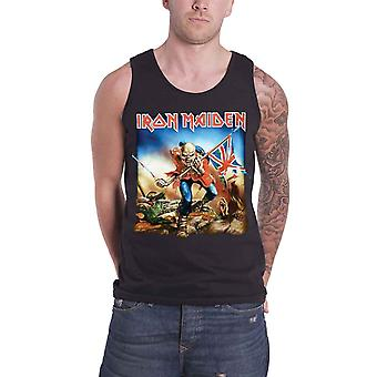 Iron Maiden Vest  Classic Trooper Cover Logo Official Mens New Black Top