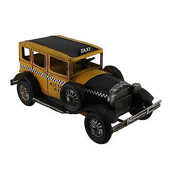 12 i. Vintage Finish antik stil gule Metal Taxi skulptur