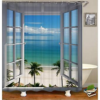 A Window To Paradise Shower Curtain