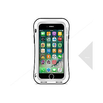 Hull For iPhone 8 Plus / 7 Plus Etanche Antichocs White Aluminium