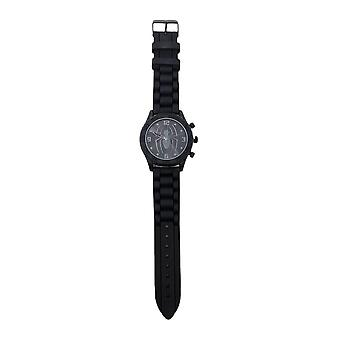 Marvel Spider-Man Black Logo Rubber Strap Watch - Boxed