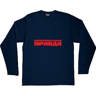 Pravda Navy Blue Long-Sleeved T-Shirt