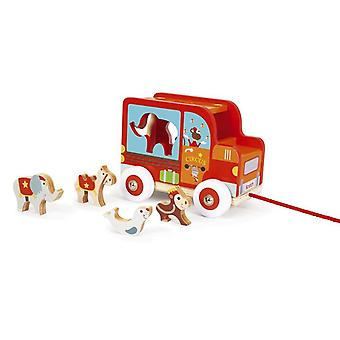 Scratch Wooden Sorting Car Circus