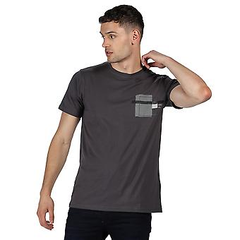 Regatta menns Cline IV Cotton casual Grahpic T-skjorte Tee