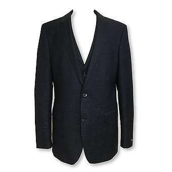 HUGO BOSS Hattrick fully structured 3 piece suit in navy/white fleck
