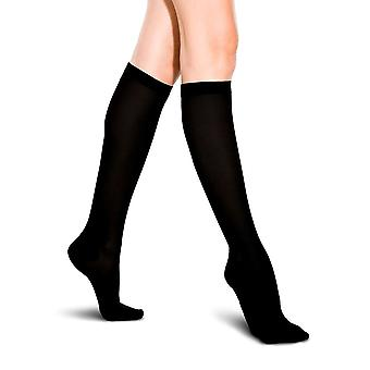 Therafirm Light Support Womens Ribbed Trouser Socks [Style A2] Coal (Grey)  L