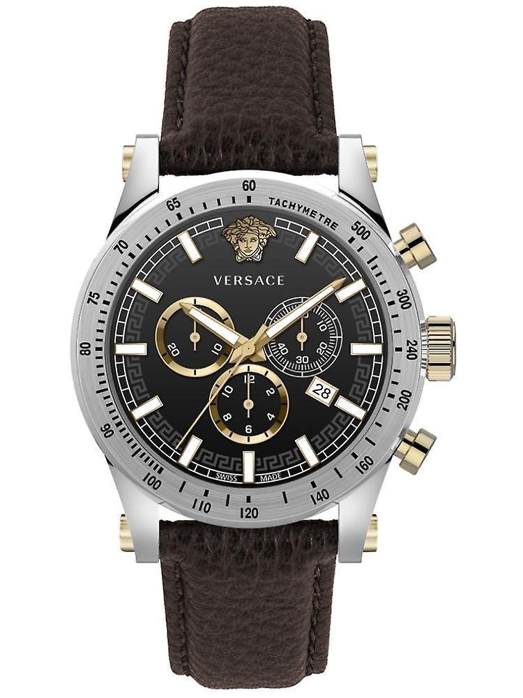 Versace Vev800119 Sporty Men's Watch Chronograph 44 Mm