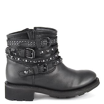 Ash Footwear Tatum Black Pavonado Studded Boot