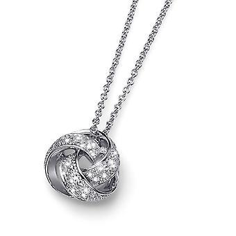 Oliver Weber Pendant Knot Rhodium Crystal