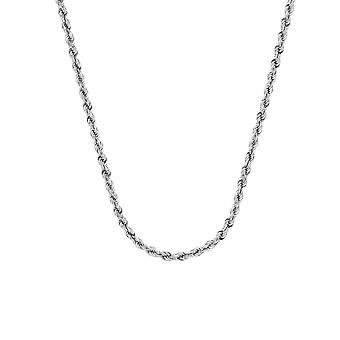 10k לבן זהב לחתוך שרשרת חבלים שרשראות 3mm טופר לובסטר הסגר תכשיטים מתנות לנשים-אורך: 20 כדי 30