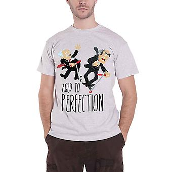 Official Mens Muppets T Shirt Statler & Waldorf Aged To Perfection Heather Grey