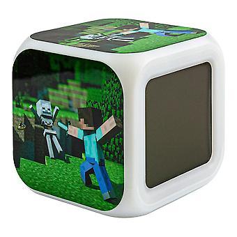 Minecraft Digital Alarm Clock - Steve No. 1