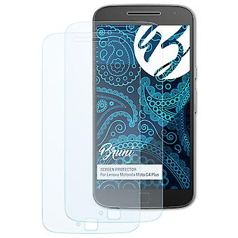 Bruni 2x Screen Protector kompatibel med Lenovo Motorola Moto G4 Plus Beskyttende Film