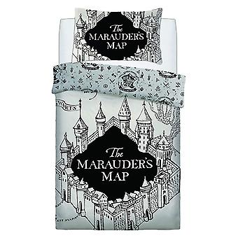 Harry Potter Marauders Map Single Duvet Cover Set